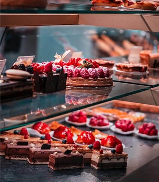 Scrumptious desserts served in a hotel