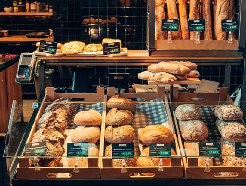 Bakery products sold at a supermarket