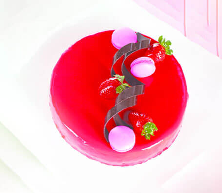 Finagle Strawberry Ripple Chesee cake